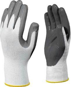 Guanti lavoro nitrile, maglia nylon e antiacido