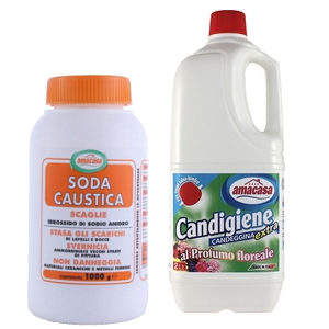 Candeggina, soda caustica