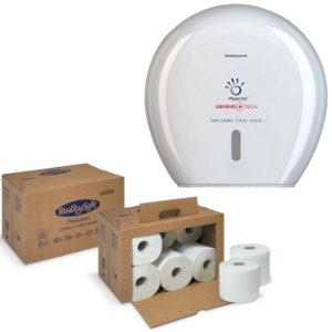 Carta igienica e dispenser